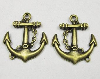 Anchor charms -10pcs Antique Bronze Anchor Charm Pendants 27x31mm B207-1