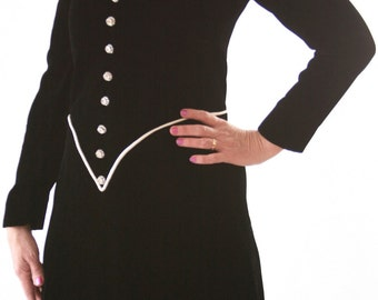 Rhinestone Holiday Dress - Vintage Velvet - Size Small 4-6