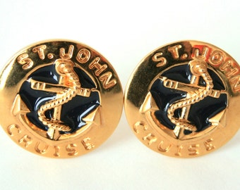 St. John - Earrings - Anchor or Nautical Earrings Clip On