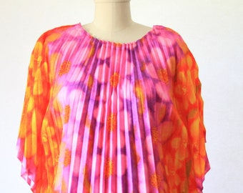 Maxi Dress - Loungewear - So 70's Chic and Cool - Butterfly Dress