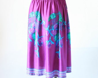 Purple Floral Wrap Skirt for the Pool - Cute - Size Small