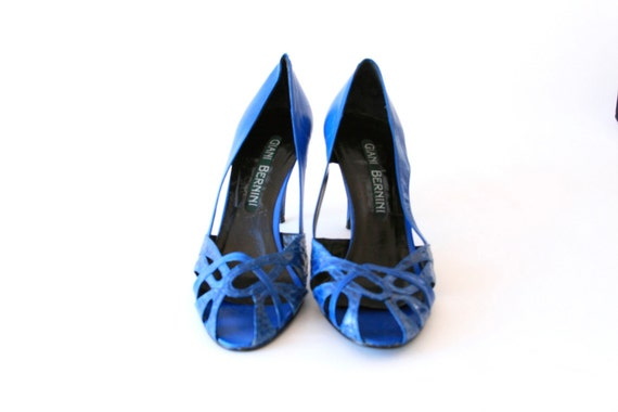 Midnight Blue Shoes - Giani Bernini - Super Cool - Size 7.5