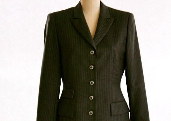 Escada - Grey Pinstripe - Skirt Suit