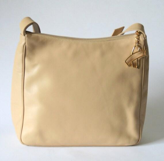 Cream Paloma Picasso Leather Purse - X