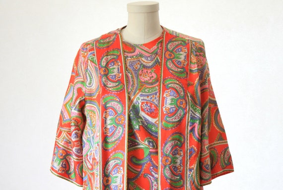 Kaftan Maxi Dress - Loungewear - So 70's Chic and Cool - Pucci Type Print