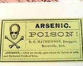 Arsenic Poison Vintage Image Postcard Set - Set of 4 cards - 5-1/2 X 4-1/4