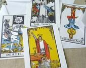 Tarot Postcard Set - Set of 4 cards - 5-1/2 X 4-1/4
