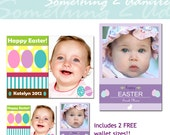 50% OFF - Easter Photo Card Templates, 2 5x7 PSD Files, 2 Wallet PSD Files, Templates for Photographers
