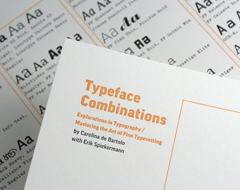 Typeface Combinations poster