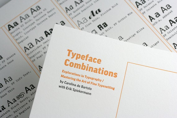 Letterpress Poster of Typeface Combinations