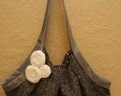 White rose Shoulder Bag