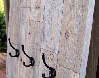 Reclaimed Cedar Wood Coat Rack