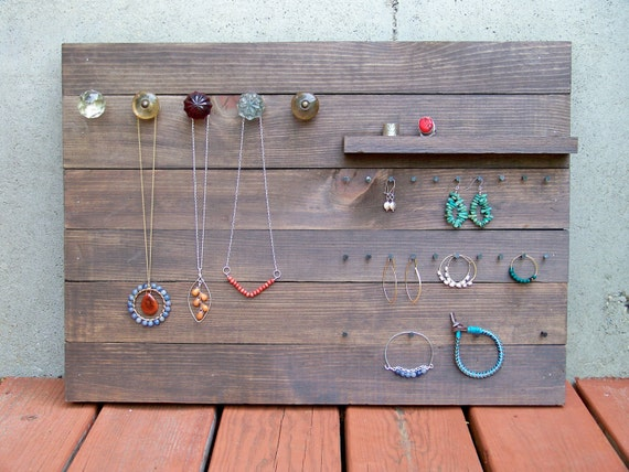 Reclaimed Wood Jewelry Organizer (Large)