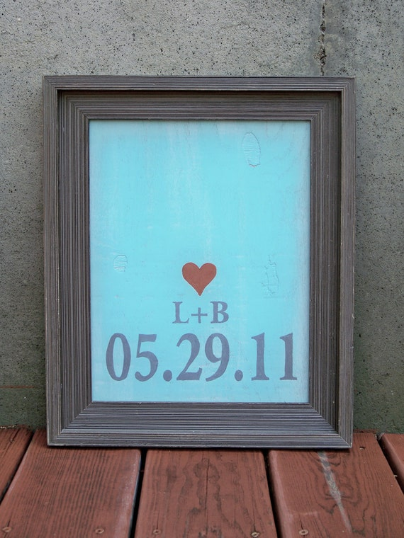 RESERVED FOR NICKI - Reclaimed Wood Personalized Wedding Date or Birth Date Painting
