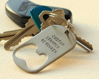 Personalized Keychain Bottle Opener Steel