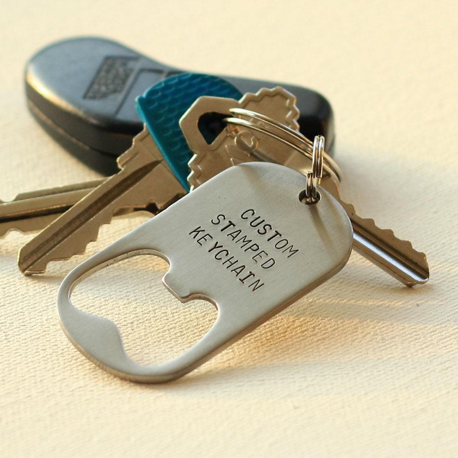 personalized keychain bottle opener steel. Black Bedroom Furniture Sets. Home Design Ideas