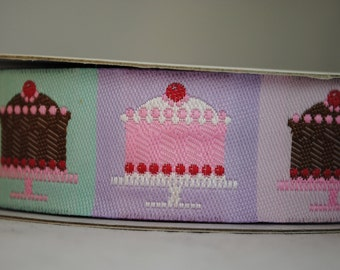 Mini Cakes Jacquard Trim 1 inch wide - 2 yards
