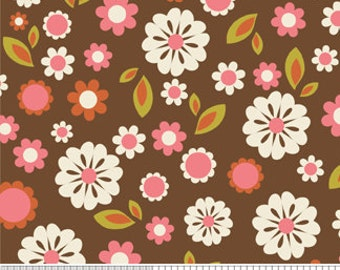 "ON SALE 40-50% OFF - Indian Summer Floral Brown - ""Indian Summer"" Riley Blake"