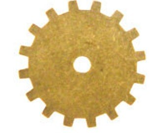 ON SALE! 20% OFF! 19mm Gear - Antique Gold Trinity Brass