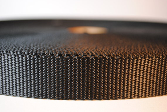 "1"" Black Nylon Webbing - 20 Yards - More Available"