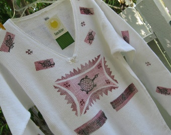 USA made 100 % cotton long sleeve organic Tribal print