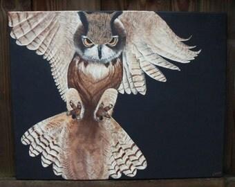 Original Owl Painting