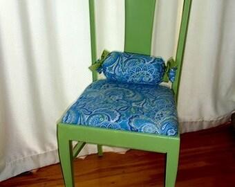 Green apple paisley chair