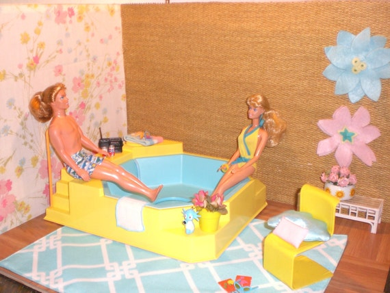 Barbie Doll House Hot Tub Patio Complete Room By