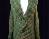 FIELDS of GREEN COAT and hat set.  Shawl collar tunic sweater coat and hat.  Special price for Etsy