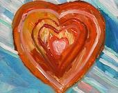 Vibrant Heart Small Original Oil  John Williams art JMW Impressionism Expressionism