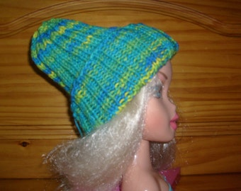 Hand Knit Child's Hat- Banana Berry