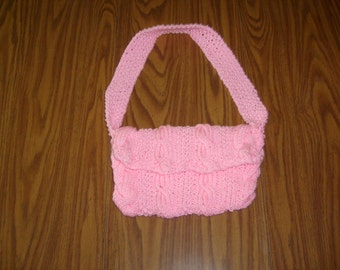 Hand Knit Cable Knit Purse