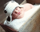 Little aviator hat baby hat and photography prop for boys and girls - ANY baby or child size