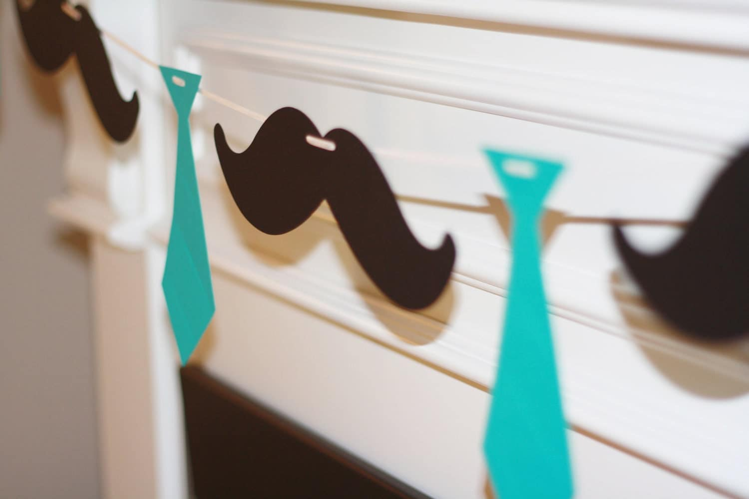little man ties and mustaches theme baby shower or birthday