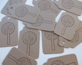 50 Tree Gift / Favor Tags