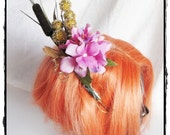 Floral and Glitz hair accent fascinator- OOAK