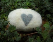20% OFF SALE  Baby Blue Heart Felted Soap - Cranberry Glycerin
