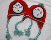 Thing 1 and Thing 2 Hats with Braids