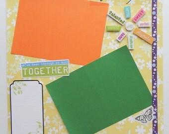 12x12 Friendship Scrapbook Page