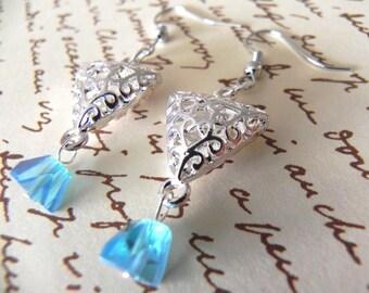 Metal Crystal Earrings