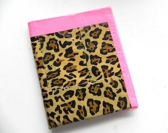 Duct Tape Leopard Print Wallet
