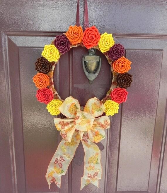 Duct Tape Autumn Wreath