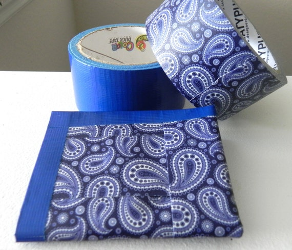 Paisley Duct Tape Wallet