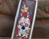 Sugar Skull Love Soldered Charm Necklace
