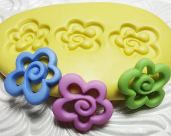 FLOWER Mold Flexible Silicone Rubber Push Mold for Resin Wax Fondant Clay Ice 4721