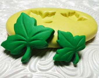 LEAF LEAVES DUO Flexible Silicone Rubber Push Mold for Resin Wax Fondant Polymer Clay Ice 374