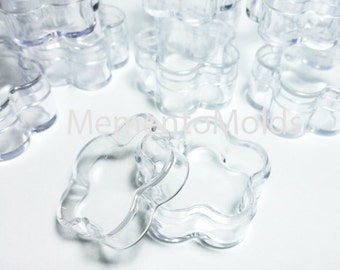 48 Flower Bead Jars Constainers Favor Boxes Clear Plastic