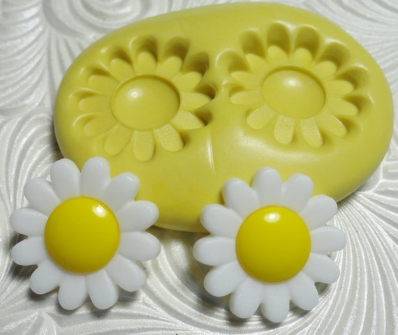 DAISY DUO Flexible Silicone Rubber Push Mold for Resin Wax Fondant Clay Ice