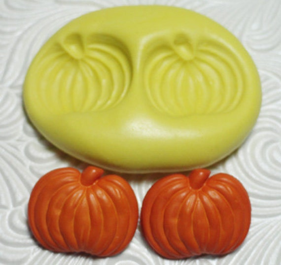 PUMPKIN MOLD Silicone Rubber Push Mold for Resin Wax Fondant Polymer Clay Ice 3006