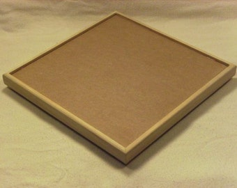 10.5 Inch Square Frame for Stained Glass Mosaic MDF with Clear Pine Trim